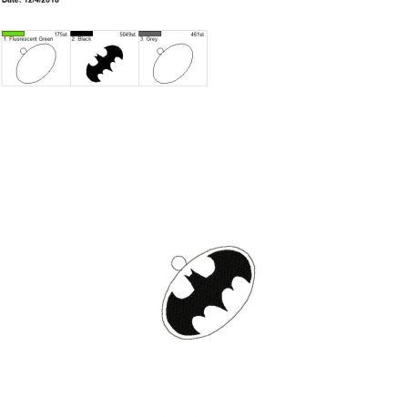 Bat Hero ornament 4×4