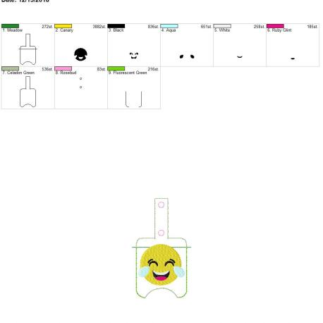 Cry Laugh Sanitizer holder snap tab 5×7
