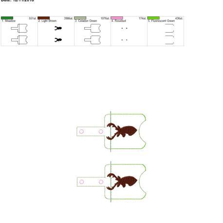 Deer Sanitizer Holder snap tab 5×7 grouped