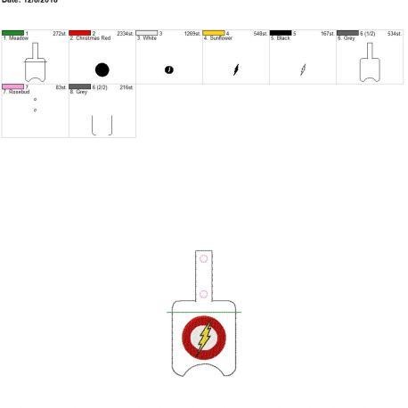 Flash Hero Sanitizer Holder snap tab 5×7