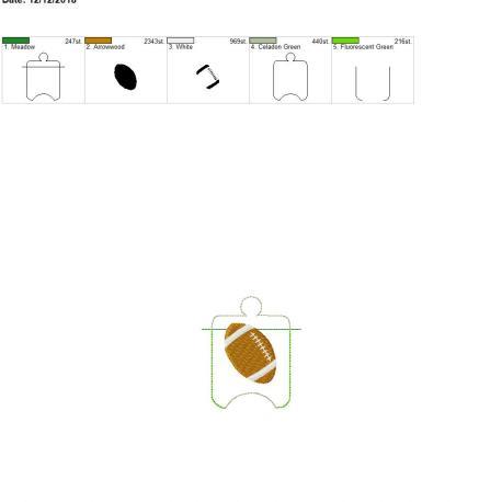 Football Sanitizer Holder eyelet 4×4