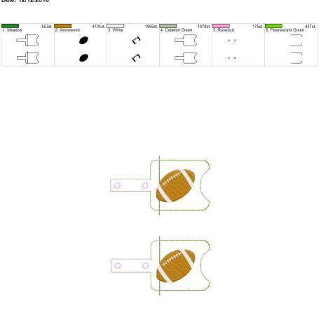 Football Sanitizer holder snap tab 5×7 grouped