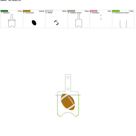 Football Sanitizer holder snap tab 5×7