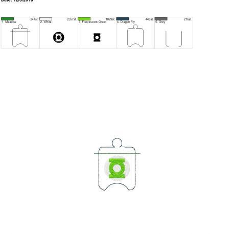 Green Hero Sanitizer Holder eyelet 4×4