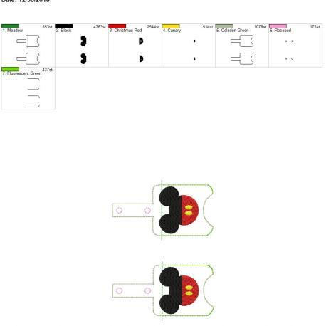 Mr Mouse Sanitizer holder snap tab 5×7 grouped