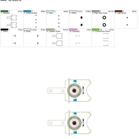 One Eyed Monster Sanitizer holder snap tab 5×7 grouped