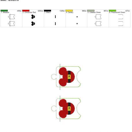 Santa Mouse sanitizer holder eyelet 5×7 grouped