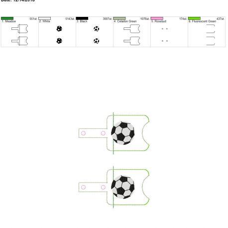 Soccer Sanitizer holder snap tab 5×7 grouped