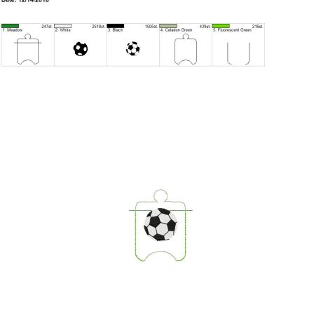 Soccer sanitizer holder eyelet 4×4