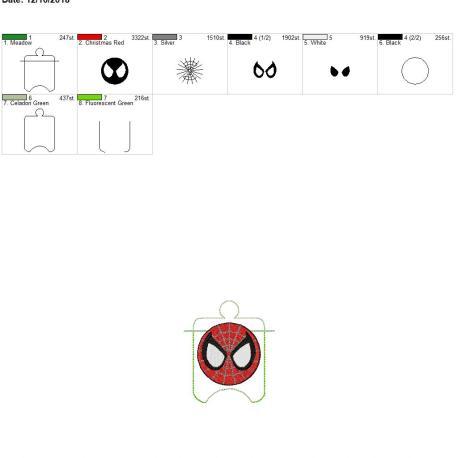 Spider Hero sanitizer holder eyelet 4×4