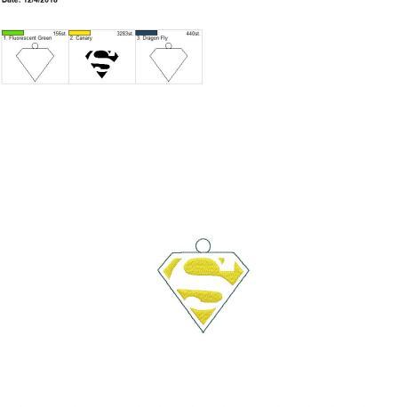 Super Hero Ornament 4×4
