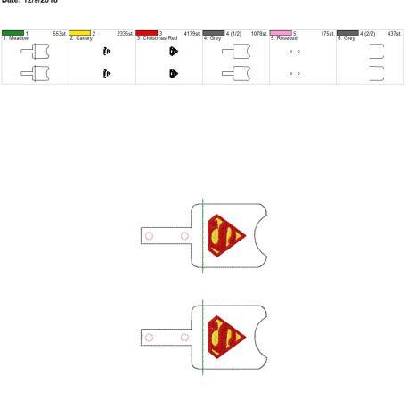 Super Hero Sanitizer Holder snap tab 5×7 grouped