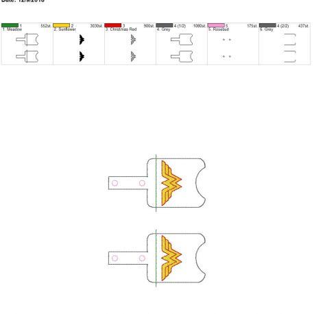 Wonder Hero Sanitizer Holder snap tab 5×7 grouped