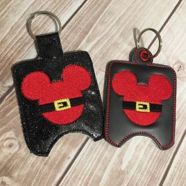 ITH Santa Mouse Sanitizer Holder 4×4 and 5×7 included- Embroidery Design – DIGITAL Embroidery DESIGN