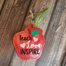 ITH – Teach Love Inspire Ornament 4×4 and 5×7 Grouped