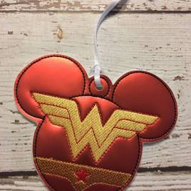 ITH Wonder Hero Mouse Ornament- 4×4 and 5×7 grouped- Embroidery Design – DIGITAL Embroidery DESIGN