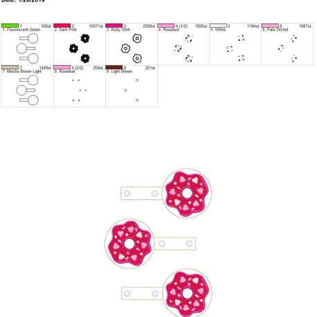 Heart Donut snap tab 5×7 grouped