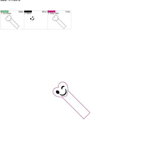 Heart Winky Face bookmark 4×4