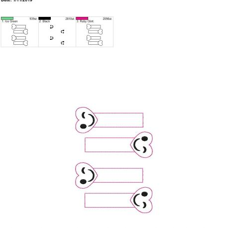 Heart Winky Face bookmark 5×7 grouped