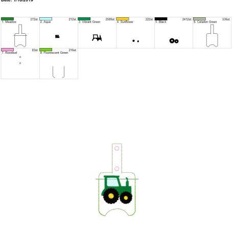 Tractor Sanitizer holder snap tab 5×7