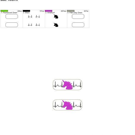 Unicorn EKG fob 4×4 grouped