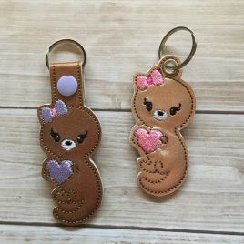 ITH Valentine Girl Otter Tab and eyelet Fobs 4×4 and 5×7 included- Embroidery Design – DIGITAL Embroidery DESIGN