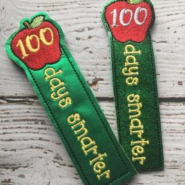 ITH – 100 Days Smarter Bookmark 4×4 and 5×7 Grouped – Digital Embroidery Design