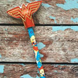 ITH Wonder Hero Pencil Topper 4×4 and 5×7 included- Embroidery Design – DIGITAL Embroidery DESIGN