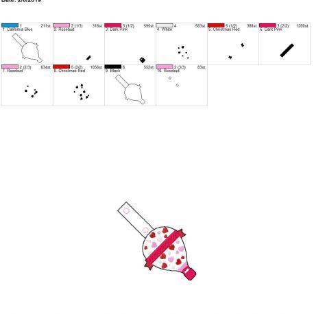 Valentine Hot air balloon snap tab 4×4