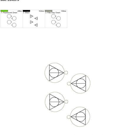 Wizard triange eyelet 5×7 grouped