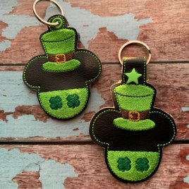 ITH – Shamrock Mr. Mouse Fobs 4×4 and 5×7 Grouped- Digital Embroidery Design