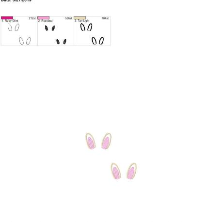 3d bunny ears 4×4 grouped