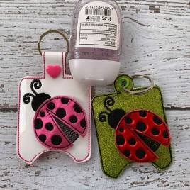 ITH 3D Ladybug Sanitizer Holders 4×4 and 5×7 included- Embroidery Design – DIGITAL Embroidery DESIGN