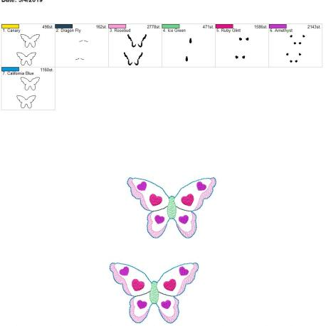 Butterfly bow center 5×7 grouped