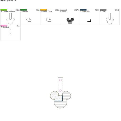 Patriotic mouse snap tab 4×4