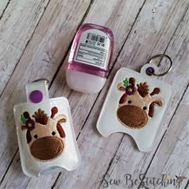 ITH Girl Giraffe Sanitizer Holders 4×4 and 5×7 included- Embroidery Design – DIGITAL Embroidery DESIGN