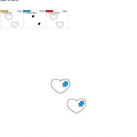 puzzle piece heart 2inch feltie 4×4 grouped