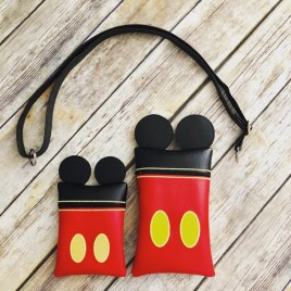 ITH – 3D Mr. Mouse Zipper Bag 5×7 and 6×10 – Digital Embroidery Design