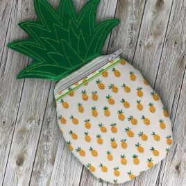 ITH – 3D Pineapple Zipper Bag – 4 sizes – Digital Embroidery Design