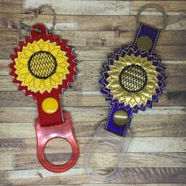 ITH 3D Sunflower Water Bottle Holders – 4×4 and 5×7 – DIGITAL Embroidery DESIGN
