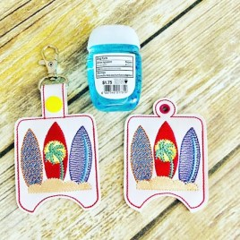 ITH Surfboard Sanitizer Holder 4×4 and 5×7 included- DIGITAL Embroidery DESIGN