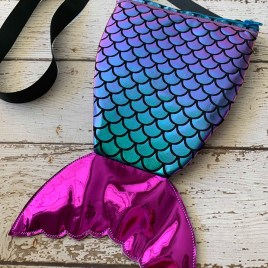 ITH – 3D Mermaid Zipper Bag – 4 sizes – Digital Embroidery Design