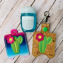 ITH 3D Cactus Sanitizer Holders 4×4 and 5×7 included- DIGITAL Embroidery DESIGN