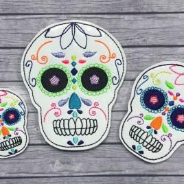 ITH – Sugar Skull Felties – 3 sizes- Digital Embroidery Design