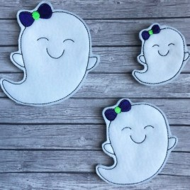 ITH – Girly ghost Felties – 3 sizes- Digital Embroidery Design