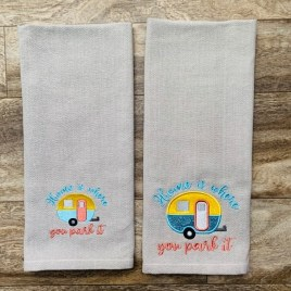 Home is Where You Park it 4×4 and 5×7 – Digital Embroidery Design