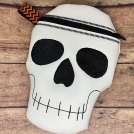 ITH – Skull Zipper Bag – 4 sizes – Digital Embroidery Design