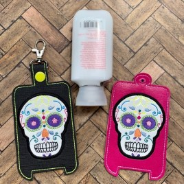 ITH Sugar Skull Hand Lotion Holder 5×7 included- DIGITAL Embroidery DESIGN