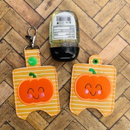 ITH Applique Pumpkin Sanitizer Holder 4×4 and 5×7 included- DIGITAL Embroidery DESIGN