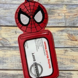 ITH – Spider Hero ID Holder 5×7 only – Digital Embroidery Design